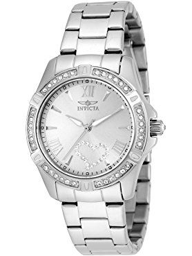 Invicta Women's 21383 Angel Analog Display Quartz Silver Watch ❤ Invicta