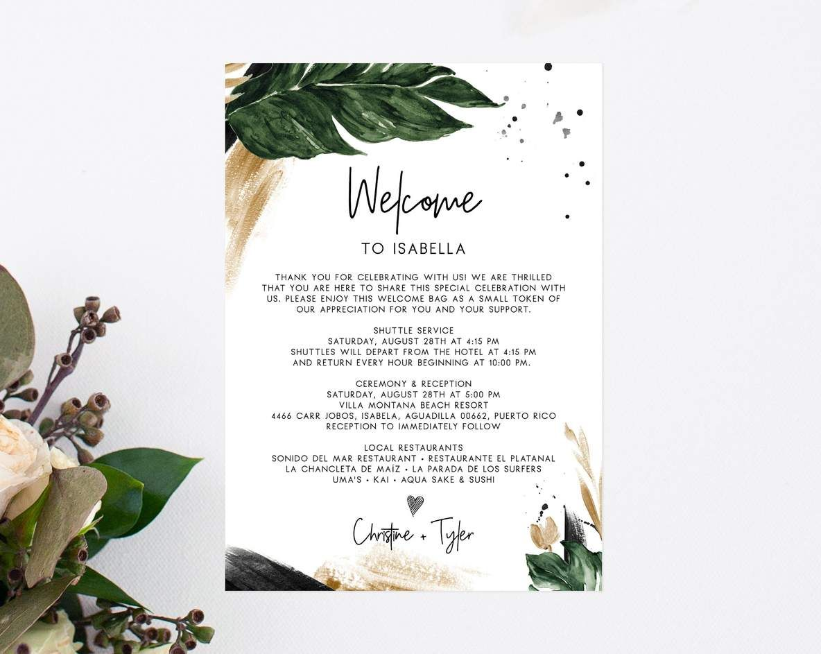 Pin On Wedding Wedding hotel welcome letter template