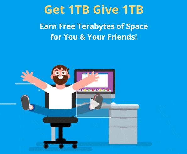 Free 1tb Secure Cloud Storage Cloud Backup Cloud Storage Referrals