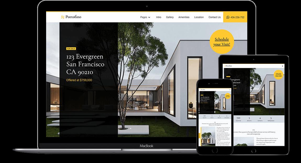 Portofino - Real Estate HTML5 Responsive Website Template