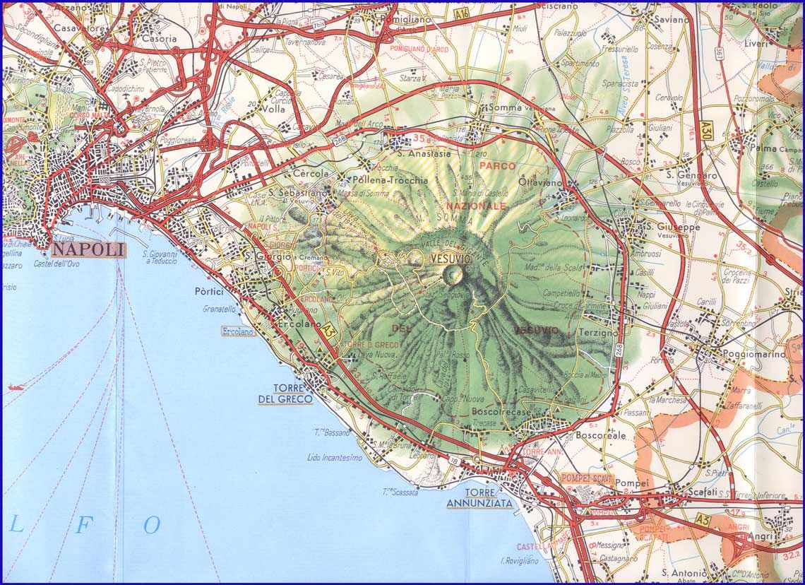 Map Of Napoli Maps Graphs Charts Pinterest Naples Italy - Mt vesuvius map