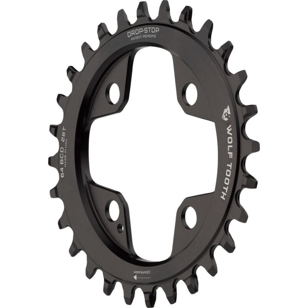 Wolf Tooth Components Drop-Stop Chainring-32T-94 BCD-4 Bolt-Black-New