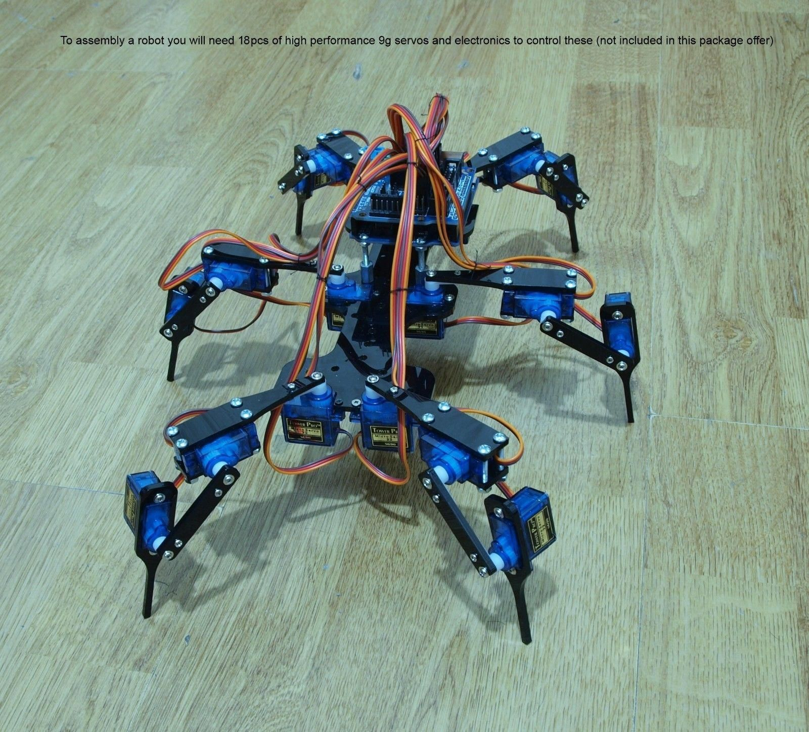 13 99 Six Feet Robot Hexapod Mini Spider Arduino Diy Robot Kit