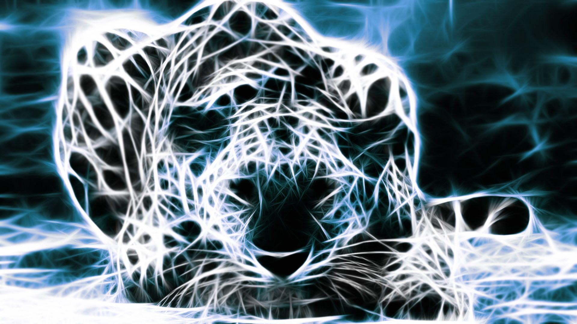 3d fractal art animals Google Search Dieren behang