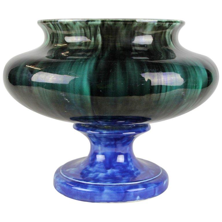 1960s Italian Cottura Ceramic Cachepot Ceramics Vibrant Colors Vintage Antiques
