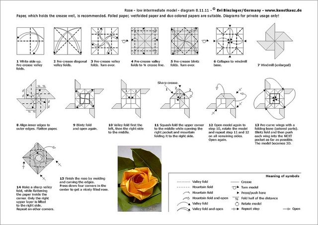 pretty petals origami rose diagrams http www ikuzoorigami com rh pinterest com origami rose diagram pdf origami rose diagram pdf