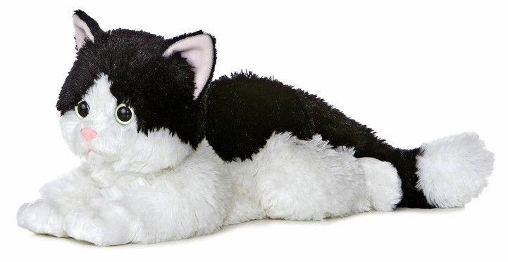 12 Aurora Plush Kitty Cat Oreo Black White Kitten Flopsie