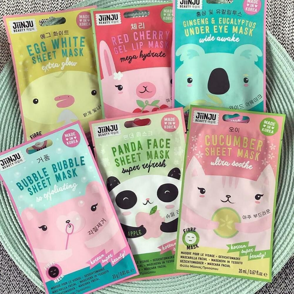 Jiinju Beauty Cucumber Sheet Mask So Soothing This Plant Extract Infused Sheet Mask Calms And Soothes The Complex Face Sheet Mask Sheet Mask Korean Face Mask