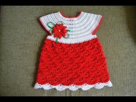 Crochet Vintage Ripple Potholder Dress DIY tutorial - YouTube ...
