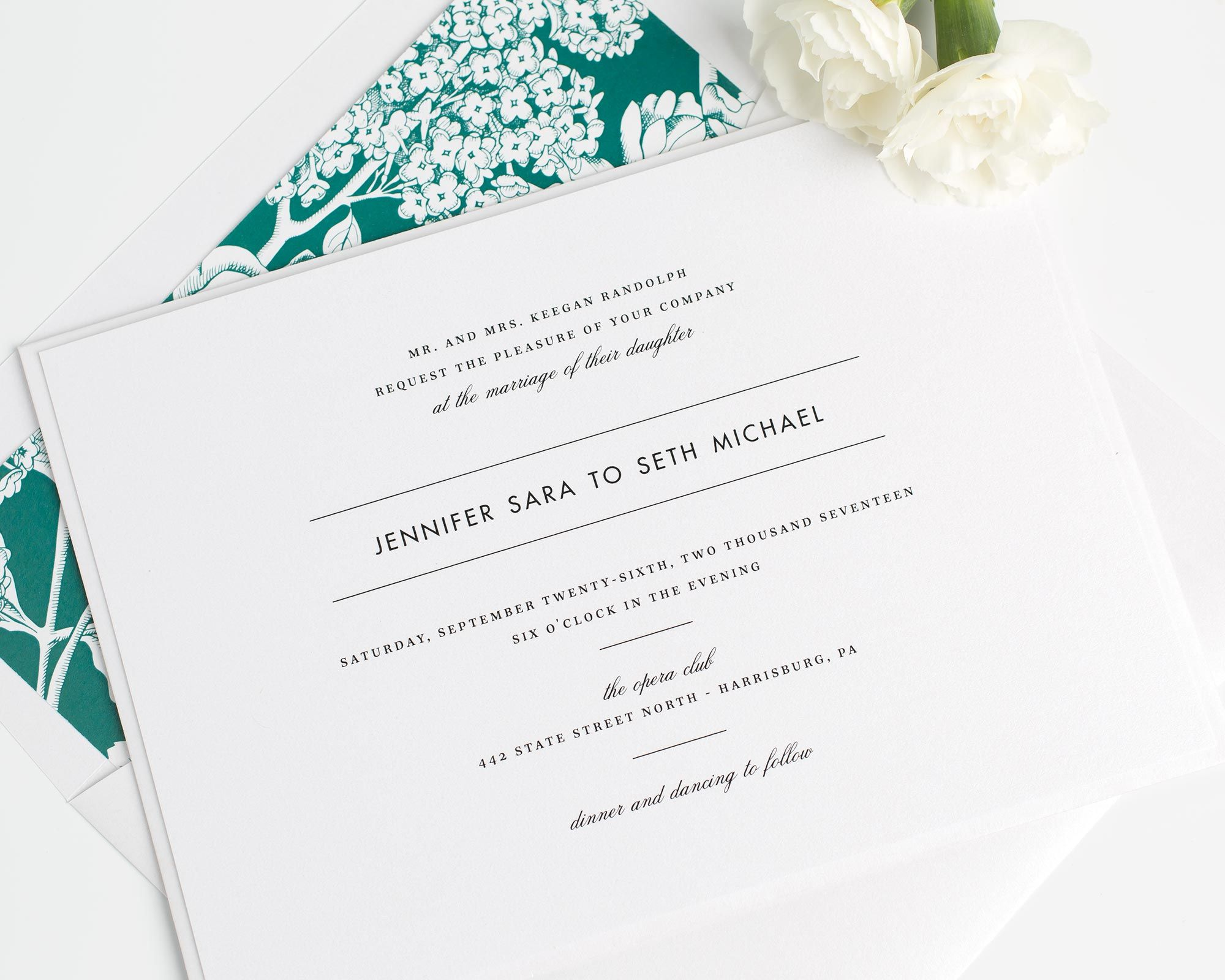 Modern Romance Wedding Invitations | Contemporary fonts, Belly bands ...