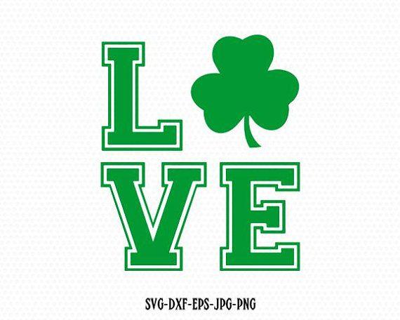 Download Shamrock love SVG, saint patricks day love svg,Shamrock ...
