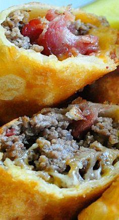bacon cheeseburger eggrolls recipes