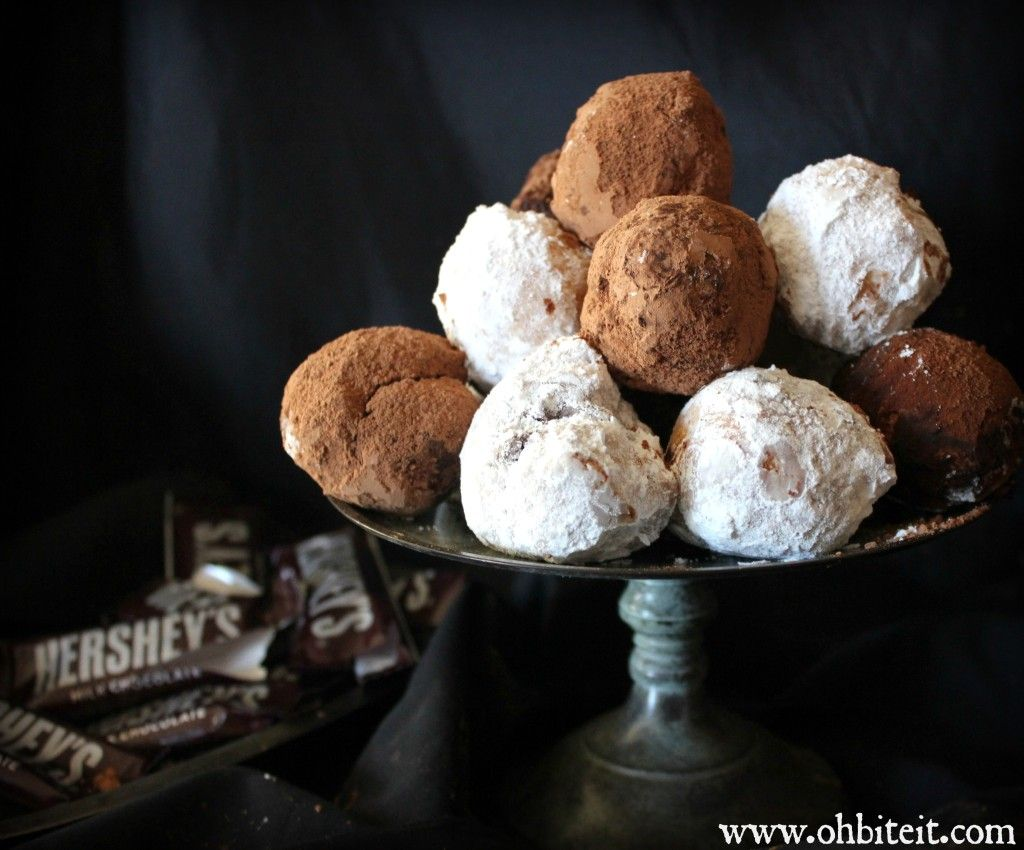 Lava Doughnuggets! I would use a better chocolate than Hershey's though :)