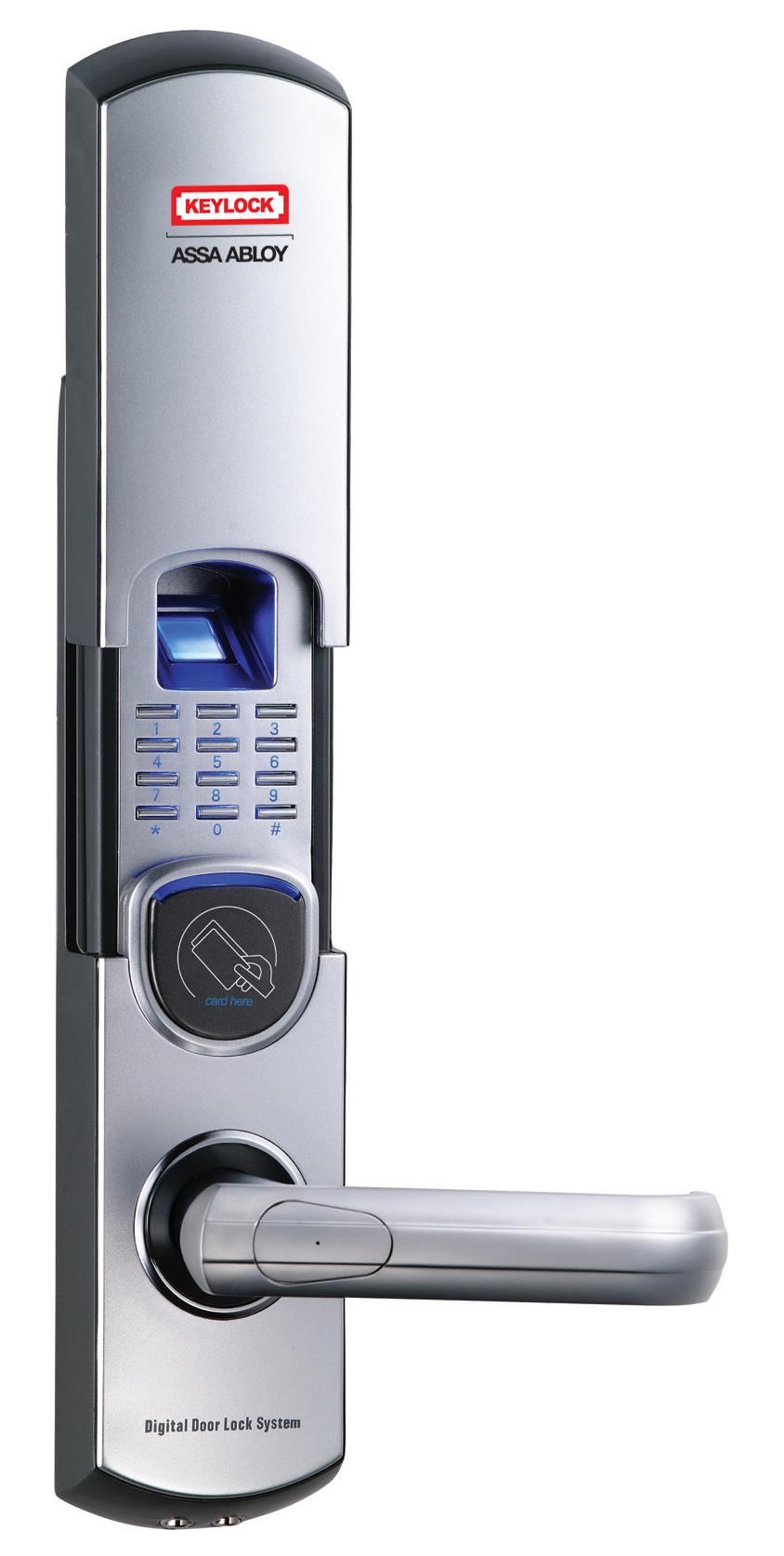 digital office door handle locks. #Fingerprint #DoorLock #door #keypad #Satin #chrome #handdoor #Electronic Digital Office Door Handle Locks E