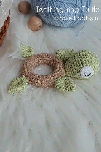 Crochet pattern turtle teether