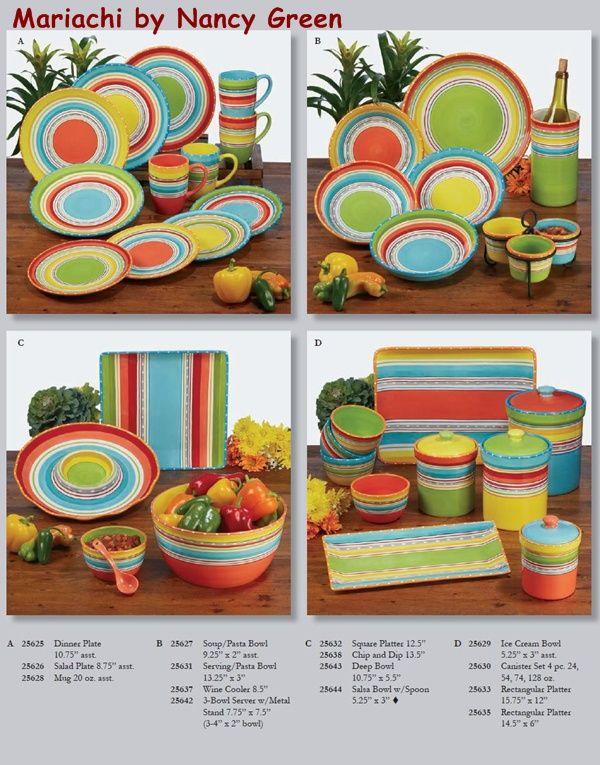 Mariachi by Nancy Green u0026 Certified International Dinnerware - Southwest Dinnerware - Tableware - Serveware  sc 1 st  Pinterest & Mariachi by Nancy Green u0026 Certified International Dinnerware ...
