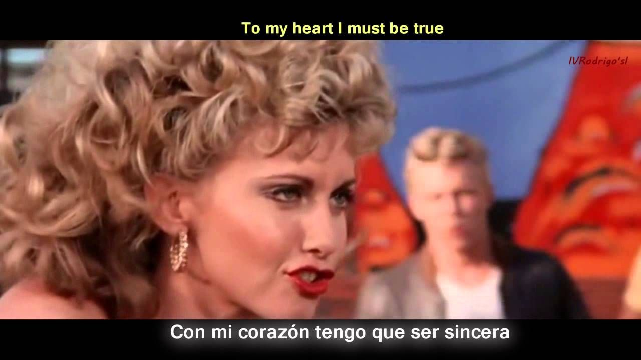 Grease You Re The One That I Want Lyrics Y Subtitulos En Español Video Oficial Youtube