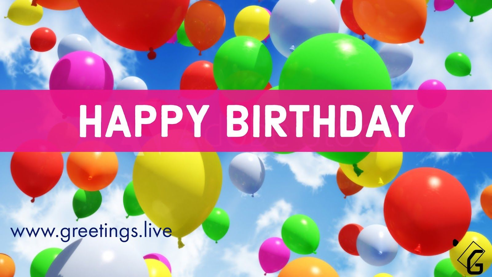 Happy Birthday Greetings With Colourful Balloons Birthday Wishes