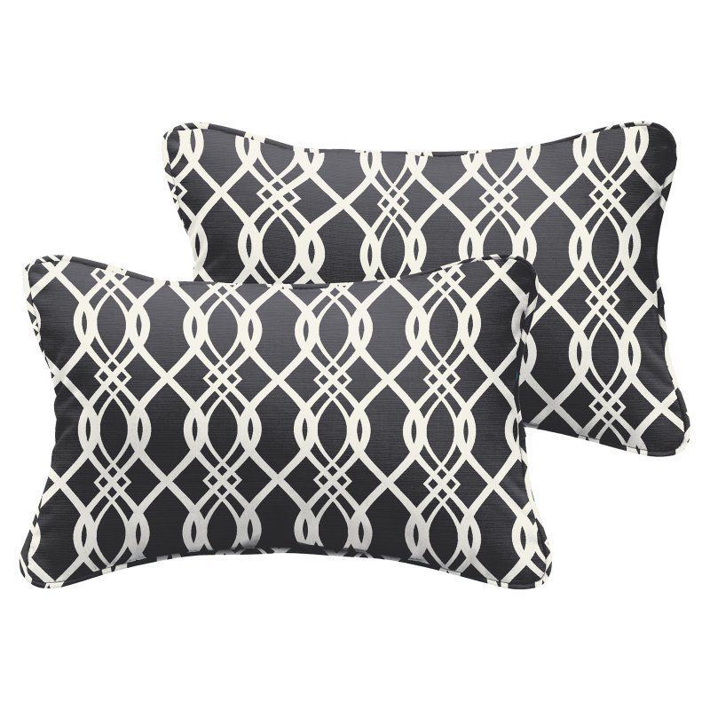 Mozaic Company Hedda Outdoor Lumbar Pillow - Set of 2 - HNPS4407