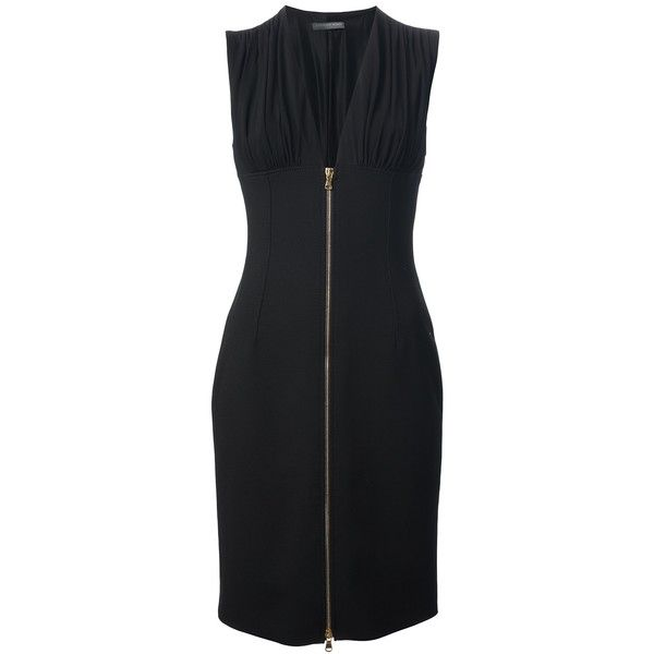 ALEXANDER MCQUEEN zip front dress ($1,647) ❤ liked on Polyvore