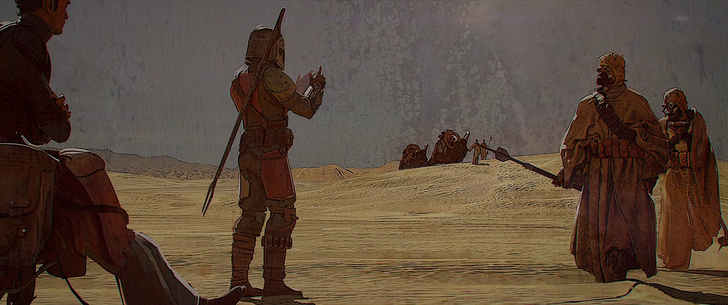 The Mandalorian End credits screens. Might make good