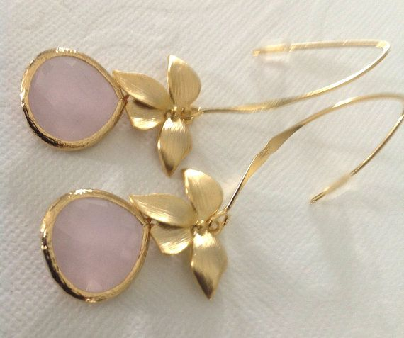 Dangle drop earrings Pink earrings Fashion gifts by 2010louisek7