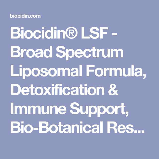 Biocidin® LSF - Broad Spectrum Liposomal Formula
