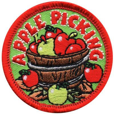 Apple Picking Patch in 2020 Girl scout fun patches, Cool