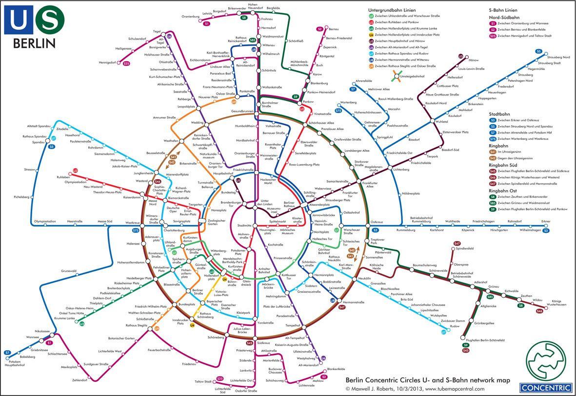 Berlin Underground Map Design By Dr Max Roberts S Bahn Berlin