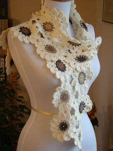 Flower scarf. Love this!!