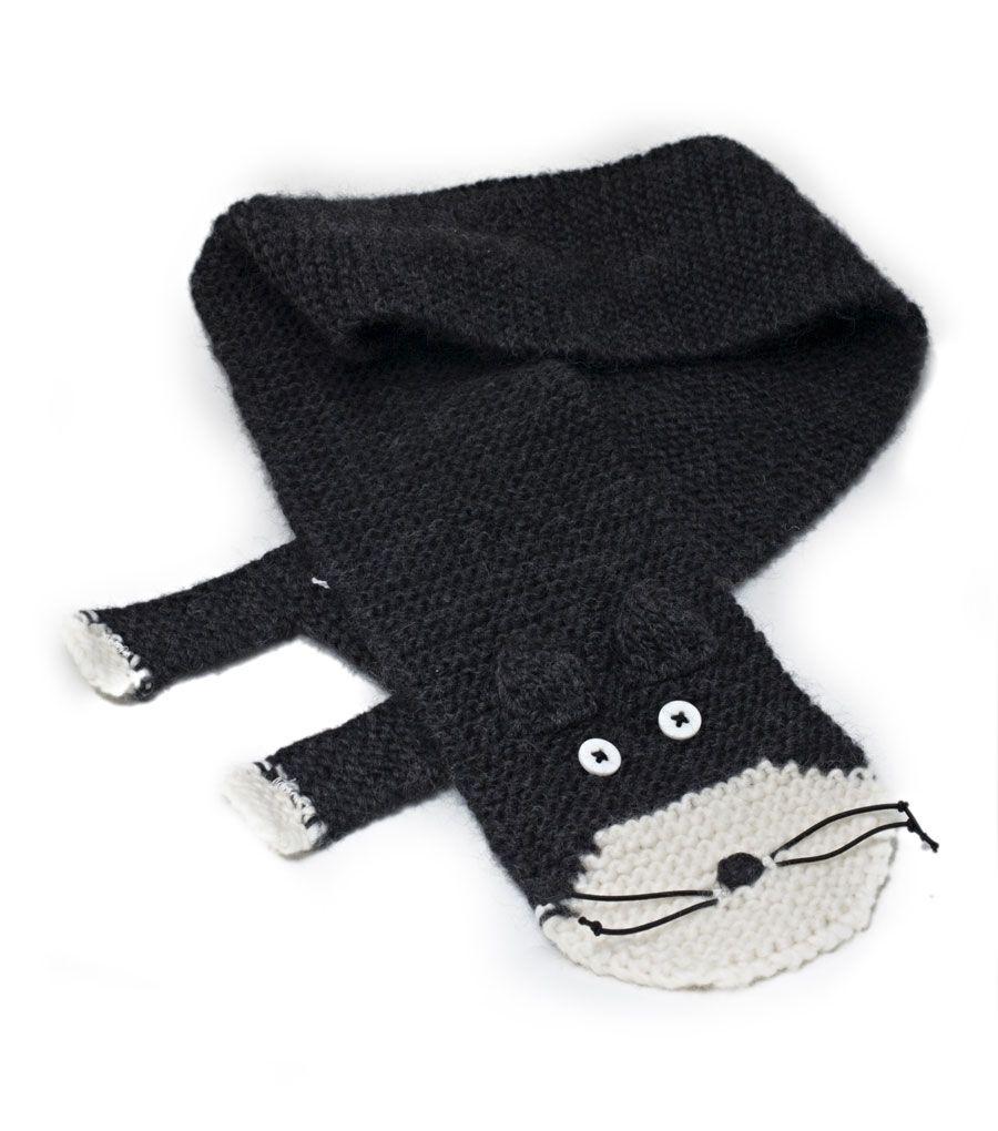 amy bahrt - hand knit cat scarf   Scarf   Pinterest   Cat scarf