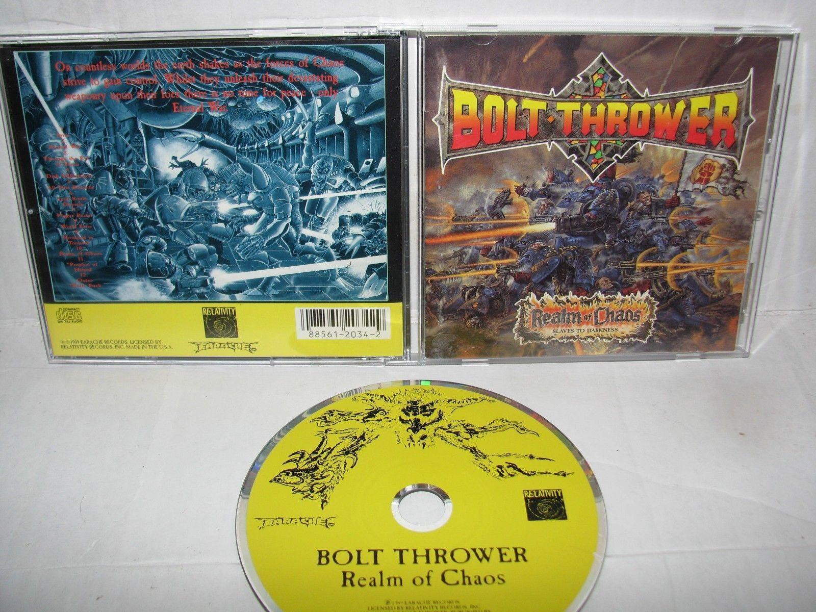 Bolt Thrower - realm of chaos CD ORIGINAL RELATIVITY 1989  https://t.co/ArA76Zq5Xq https://t.co/gep9oxGuhh