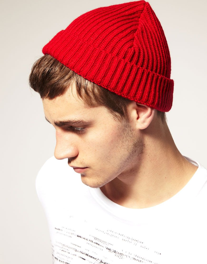 Cool beanie hat - the future's bright, the future's red (and white...)