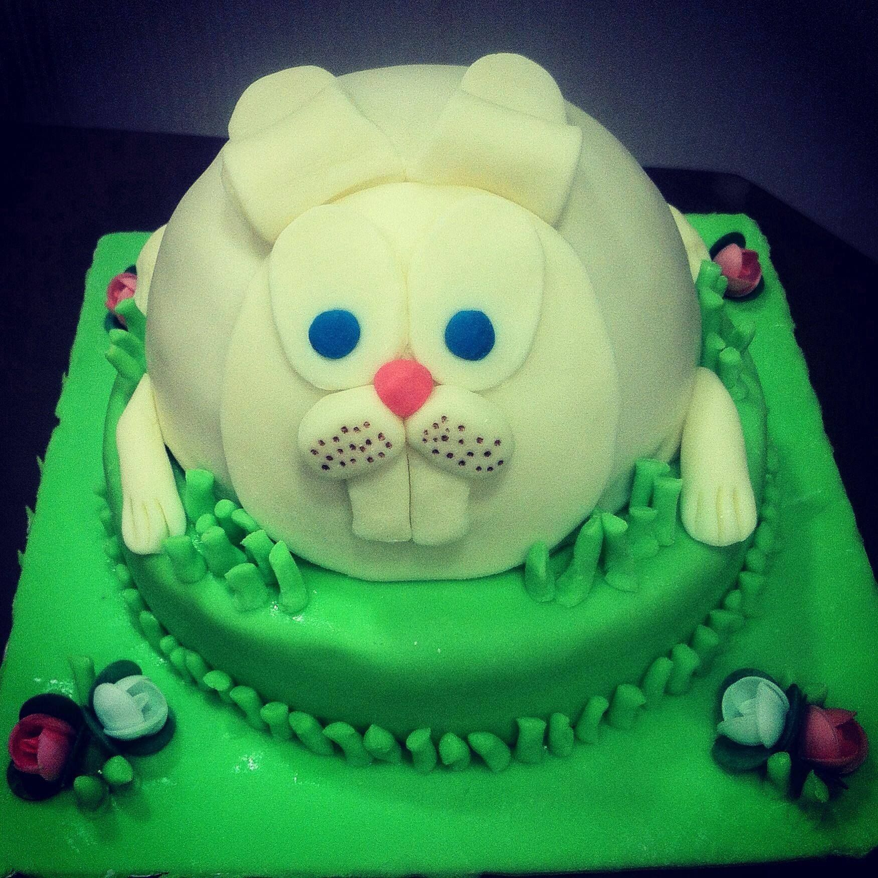 Rabbit cake So cute sugarpaste sugarart sugarartcake