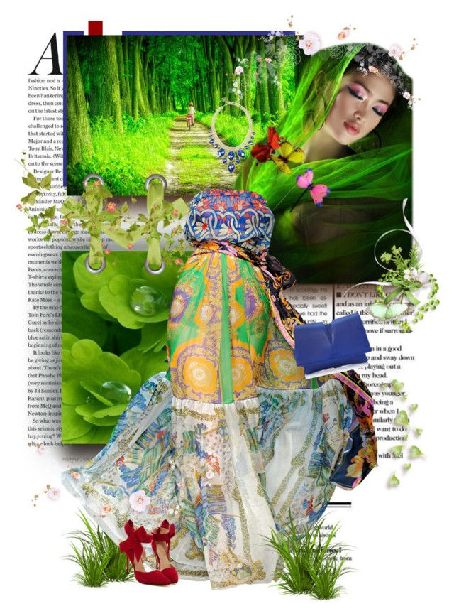 """Grass rhapsody"" by grazhina ❤ liked on Polyvore featuring Osman, Dolce&Gabbana, Kendra Scott and Jil Sander"