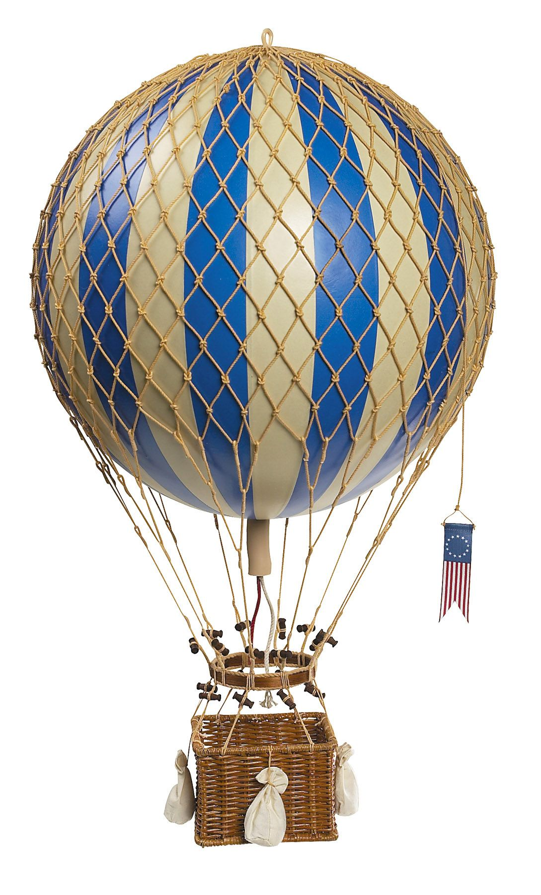 Hot Air Balloon Vintage Vintage hot air balloon blue | Art ...
