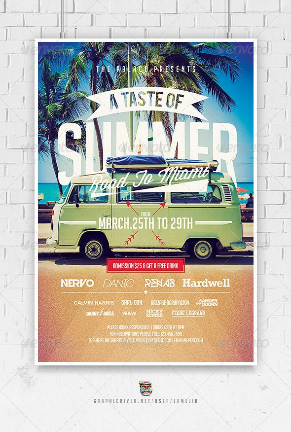 A Taste Of Summer Flyer Template  Flyer Template Template And Summer