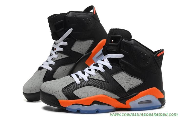 hot sale online 62e4b b9613 chaussures basketball Dog Lines Orange Gris Noir AIR JORDAN 6 RETRO  309387-068 Hommes