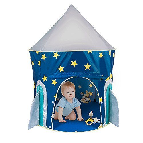 PEPECO Children Play Tent Kids Rocket Ship Indoor Playhouse -- Check out the image by visiting the link.Note:It is affiliate link to Amazon.