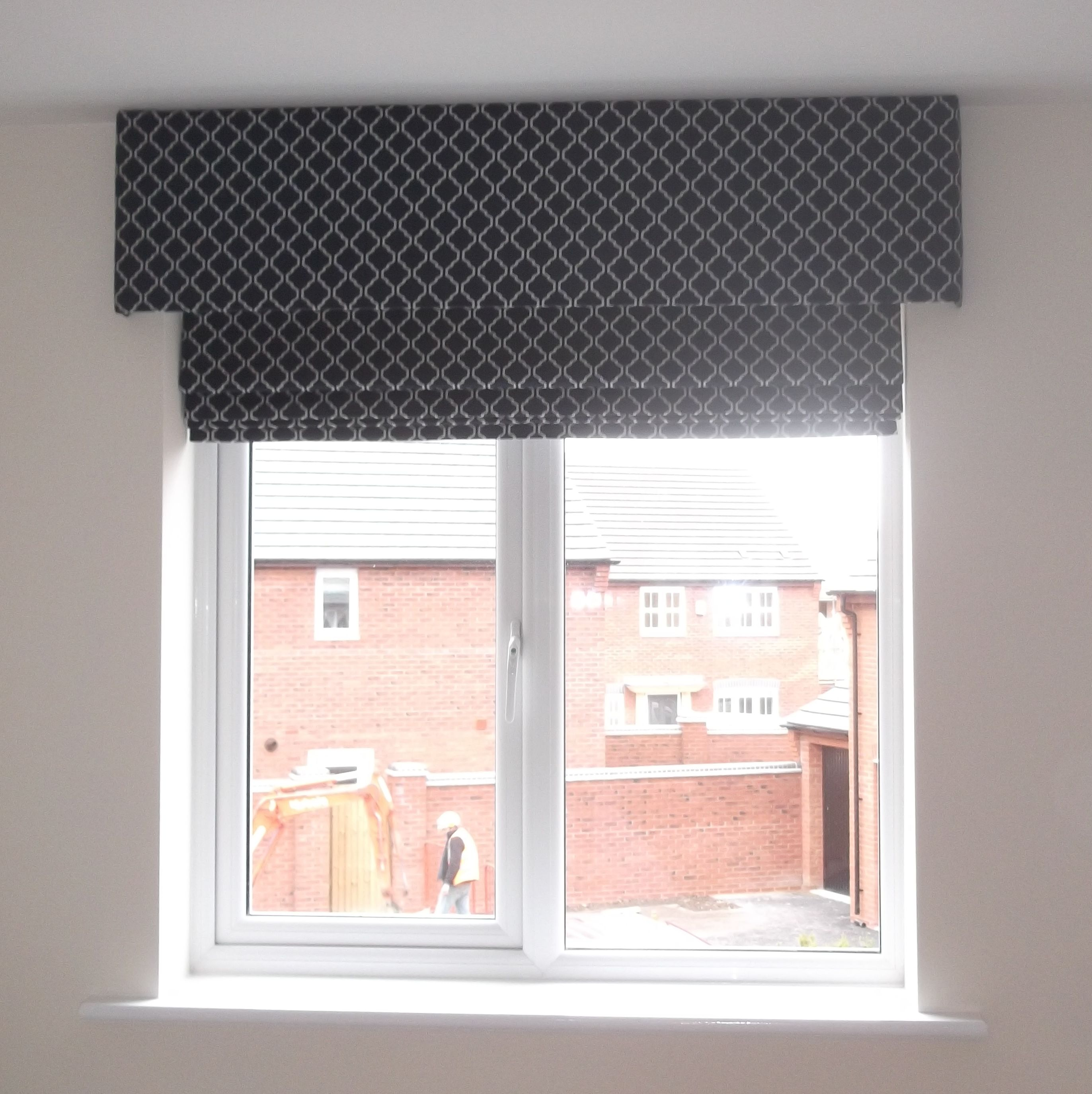Roman blind with pelmet very smart finish window for Windows with blinds and curtains