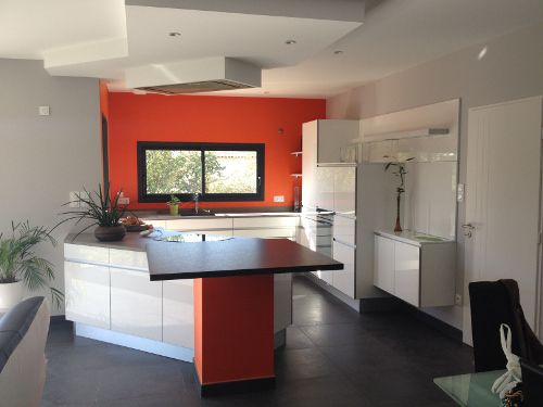 cuisine Arthur Bonnet blanche orange toulouse cuisine couleur