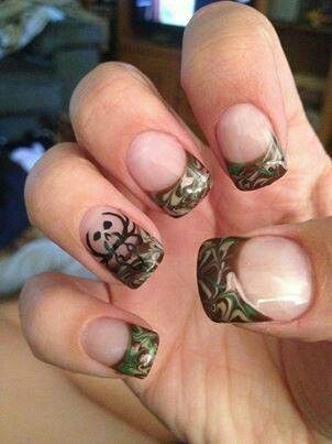 simple nail designs trend for 2017  camo nails hunting