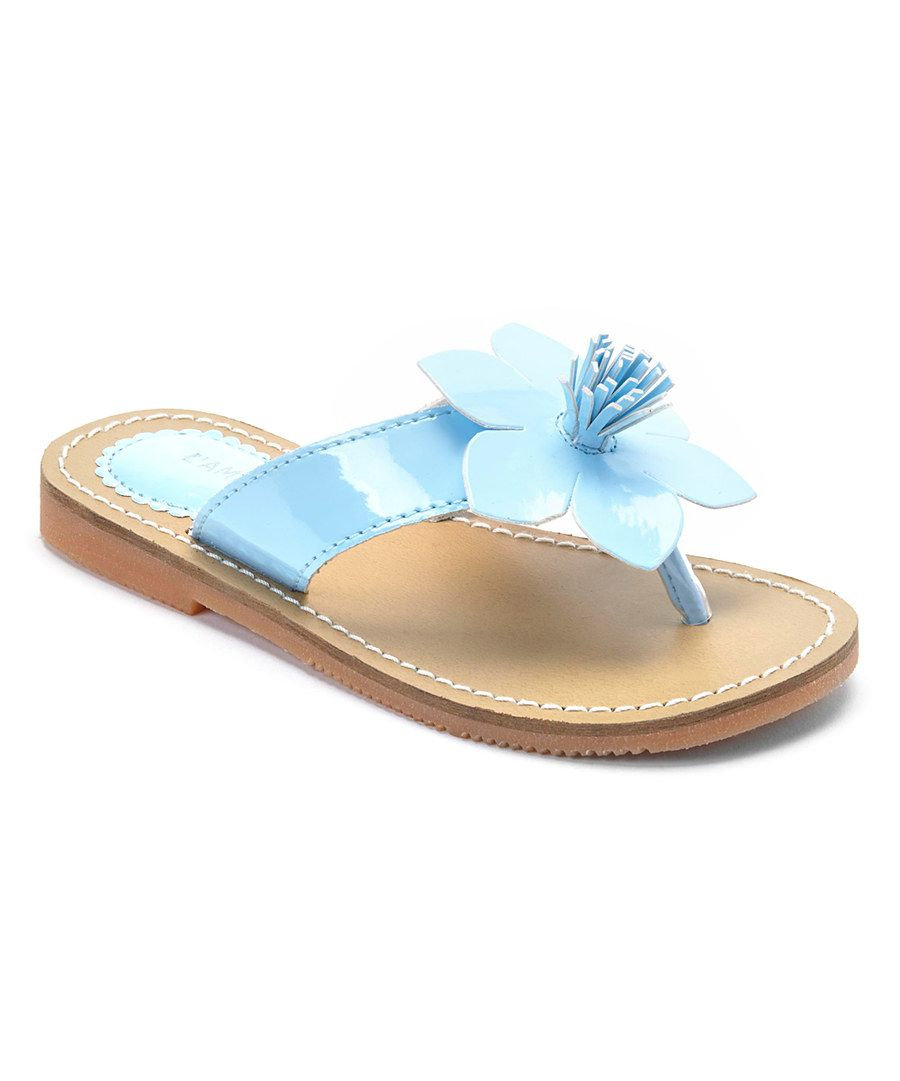 aa62de6f9 Look at this Blue Flower Sandal on  zulily today!