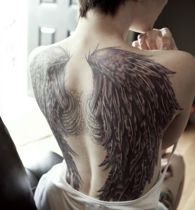 Locus Diaboli #angel tattoos #angel #wings #tattoos #back