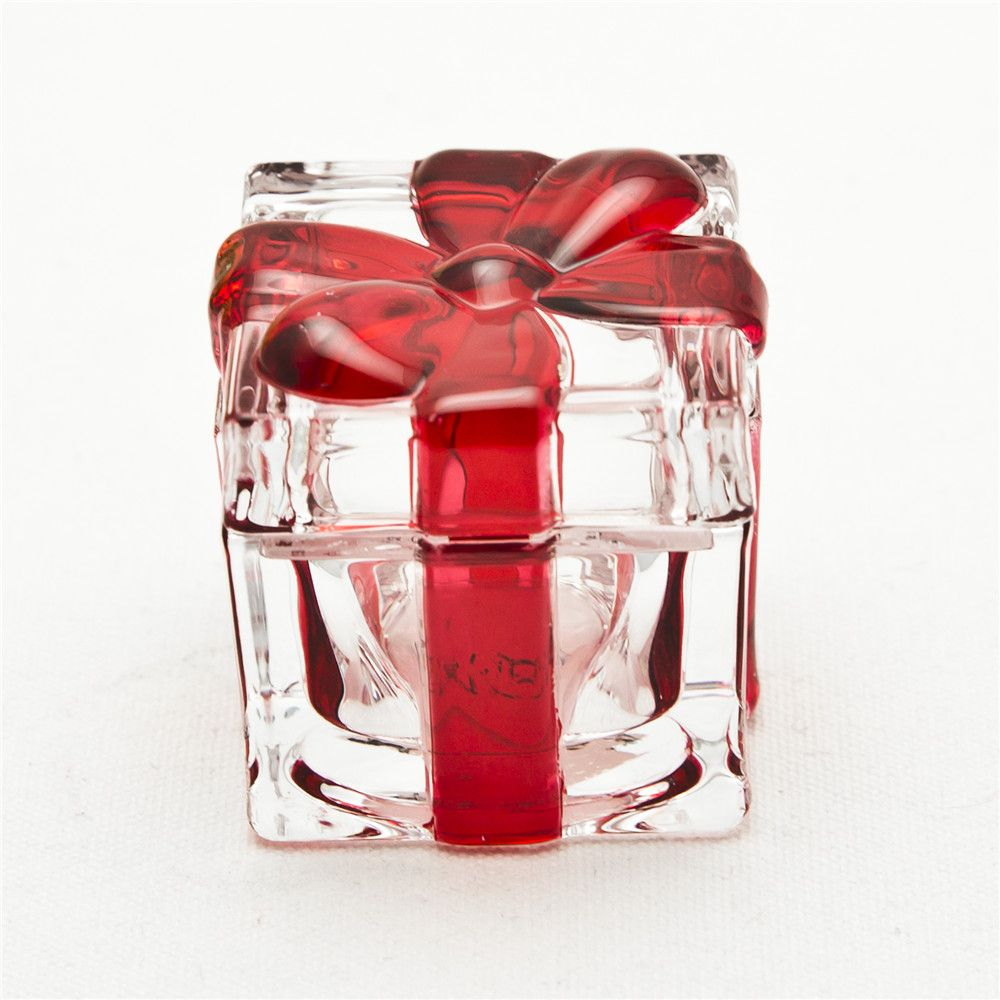 Gift Box Shape Glass Jar With Lid