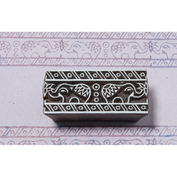 Blockwallah Hand Carved Wood Stamp MUGHAL by SeptemberPlayground