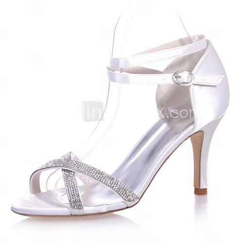 L YC Talons Hauts De La Femme Printemps / ÉTé / automne Ouvert Toe Satin Wedding / Party & Evening / Dress , Blanc , 37