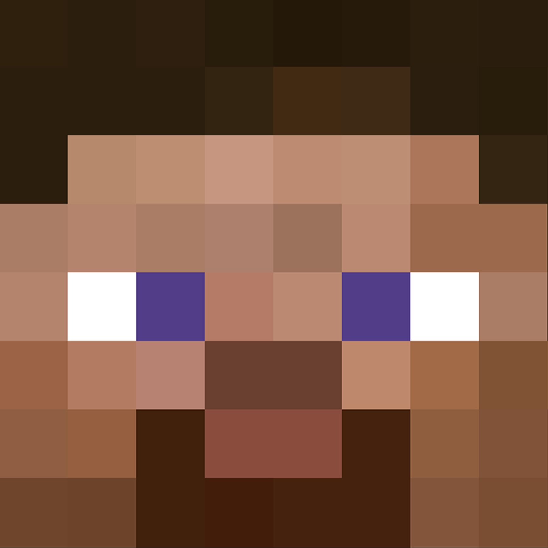 Here Is A Jpeg Of Steve S Face That You Can Print Out Minecraft Steve Minecraft Steve Head Minecraft Crafts