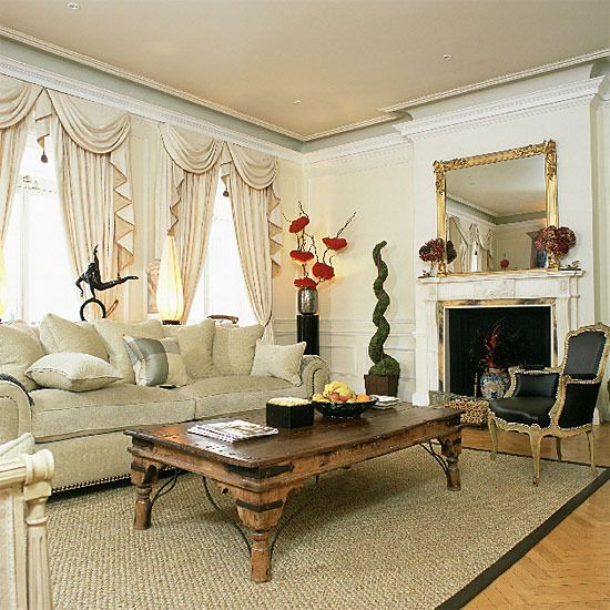 Traditional Home Interior Decorating White Traditional Living
