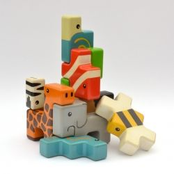 Animal Stackers is a new kind of building block for boys and girls. These wooden blocks are designed to transcend divisive gender boundaries and encourage children to play together.